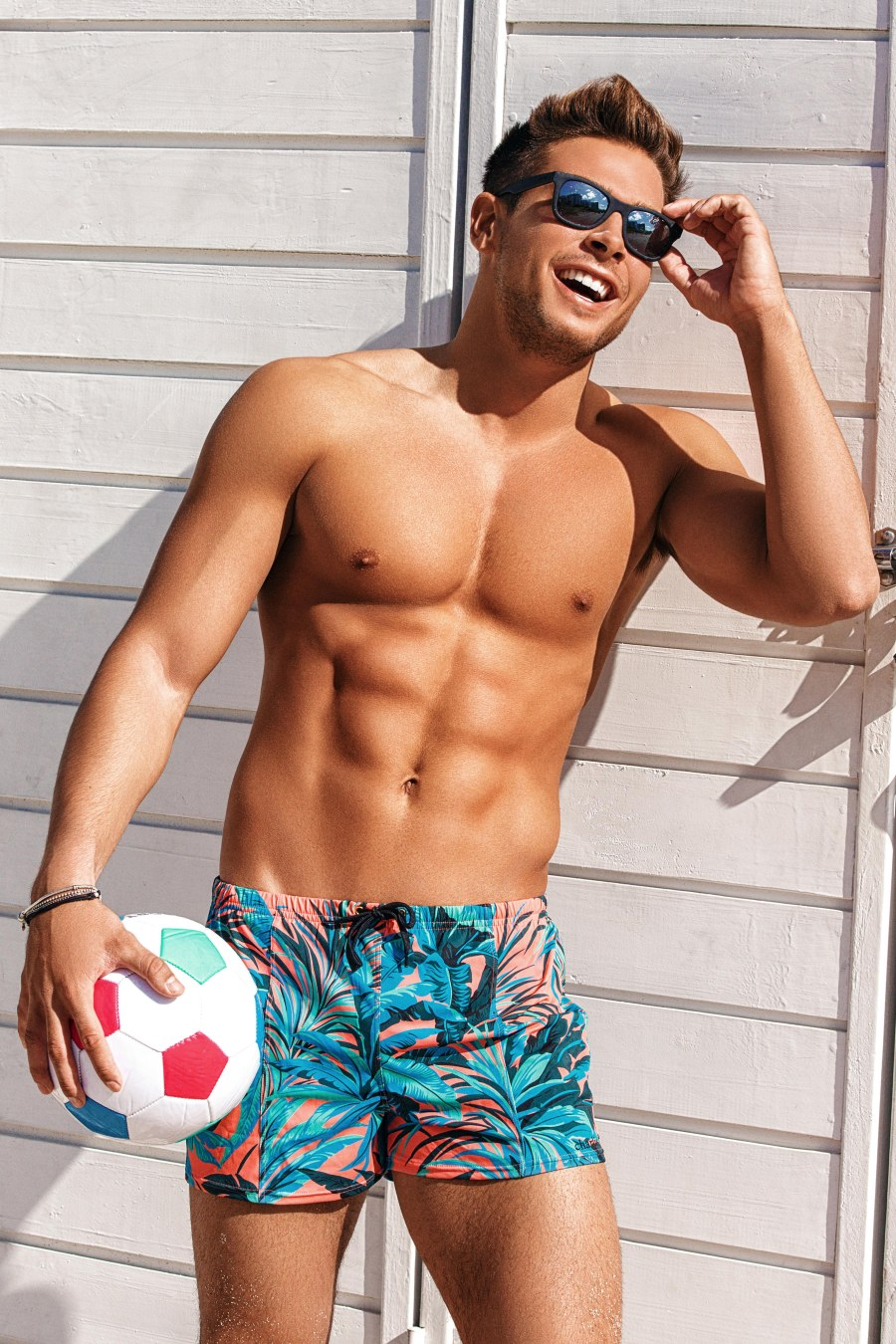 Feel the heat and step inside, here's Andrea Denver posing delightfully under the rays of sun captured by talented Alex Jackson. Andrea is with Wilhelmina Miami.