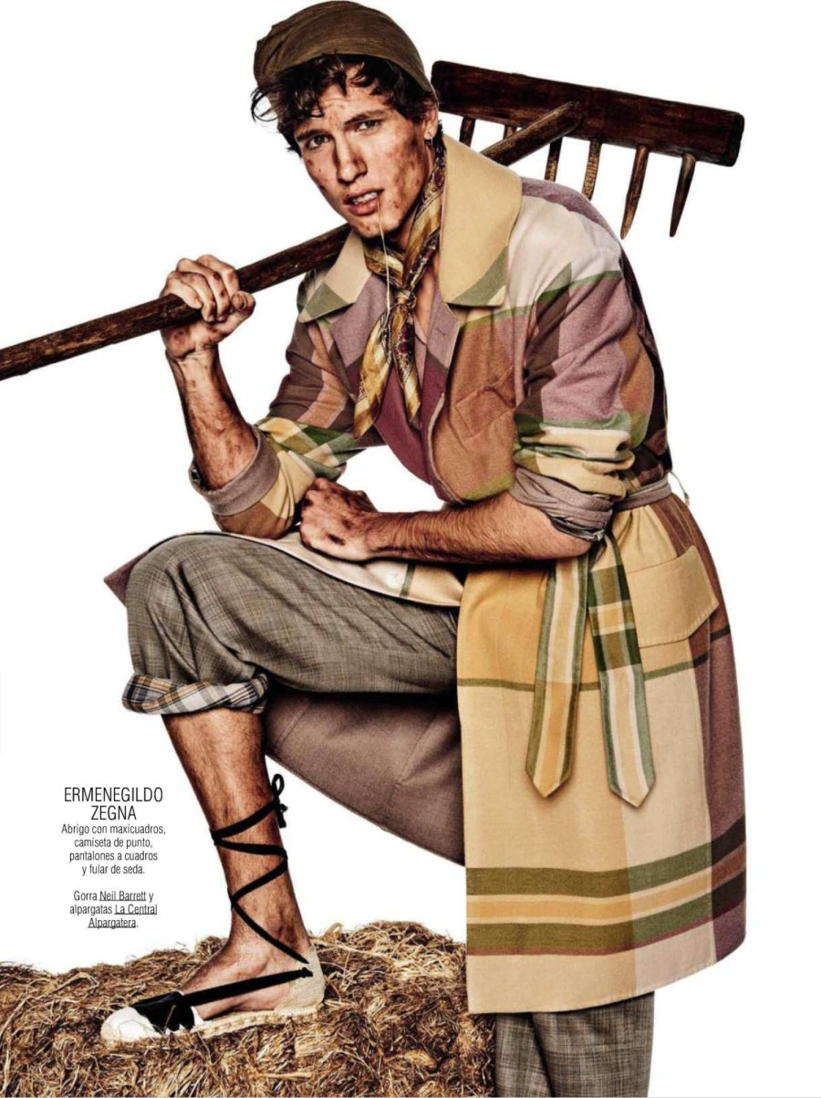 'Working Class Hero' for GQ Spain, March 2016. Photos by Giampaolo Sgura. Realization: Miguel Arnau and the class are Alessio Pozzi, Adrian Cardoso, Julian Schneyder, Simon Dube Paul. Grooming by Andrew Ciao.