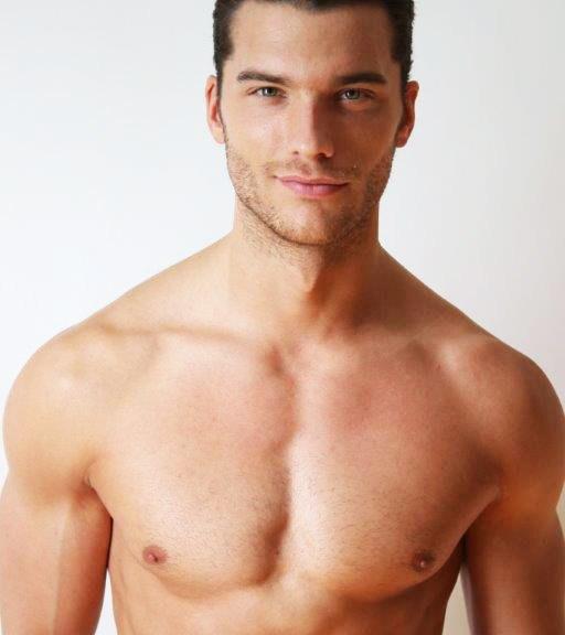 Fresh new polas of handsome male model Aurélien Muller
