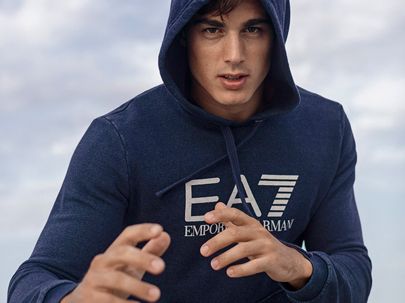 Pietro Boselli photographed by Serge Guerand in the island of Sardinia, for the Spring/Summer 2016 lookbook of EA7 Emporio Armani.