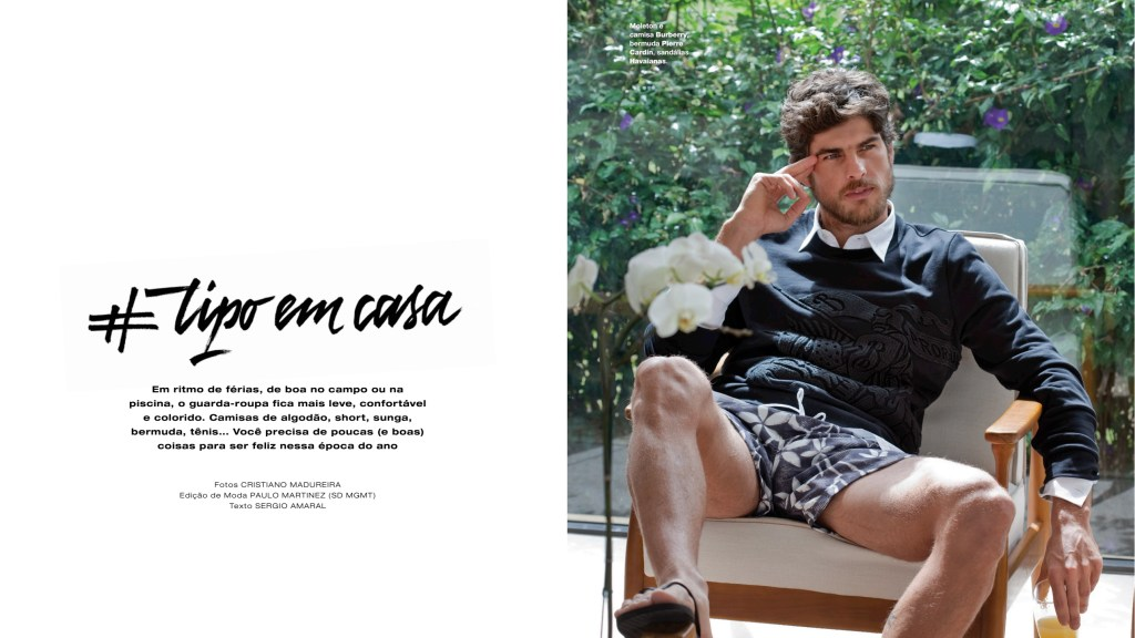 #Trip Em Casa editorial shot by Cristiano Madureira featuring model Evandro Soldati Fashion Editor: Paulo Martinez. Hair/Make Up: Paula Vida, for L'Officiel Hommes Brazil #08.