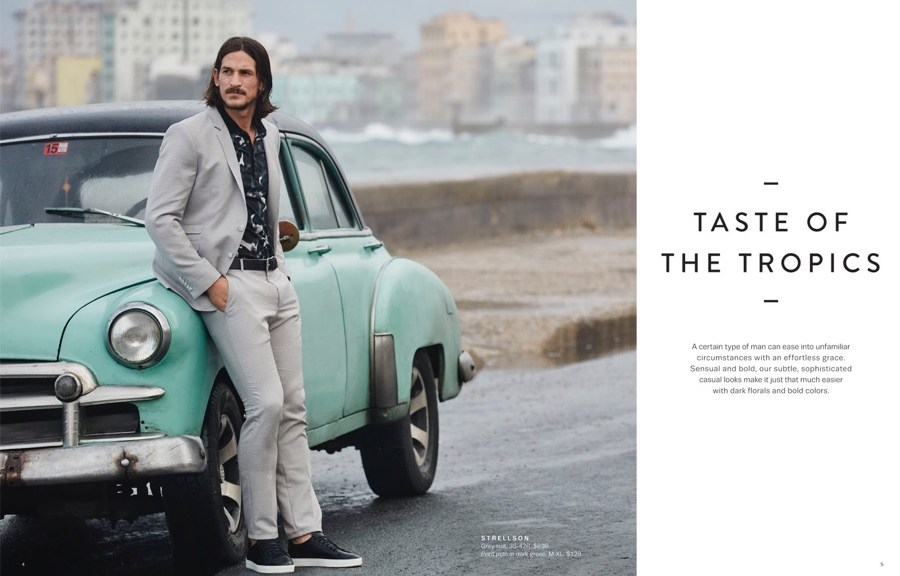 Top models Jarrod Scott and Adrien Sahores starring in the new fashion catalogue by Lord & Taylor Spring 2016, photographed by Daniel Riera and styled by Christopher Campbell, stunning fresh images taken at Cuba.