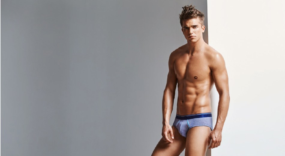 """He's coming back super model River Viiperi is leading top Spanish underwear brand Punto Blanco for its coming """"Holiday Dreams""""."""