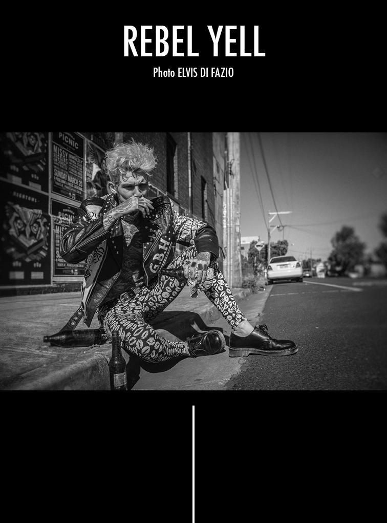 "Elvis Di Fazio photographer, artist and storyteller makes ""Rebel Yell"" for TOH! Magazine starring inked sensation Josh Deane."