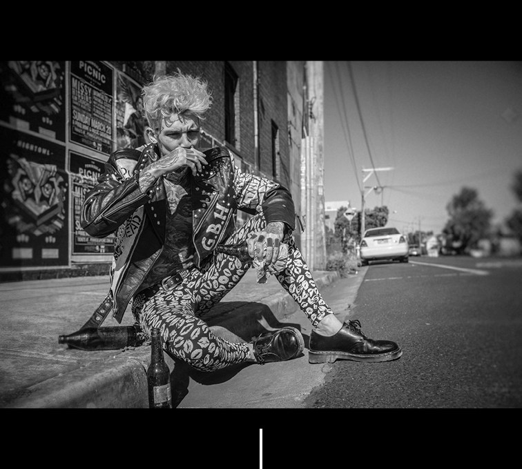 "Elvis Di Fazio photographer, artist and storyteller makes ""Rebel Yell"" for TOH! Magazine starring inked sensation Josh Deane."
