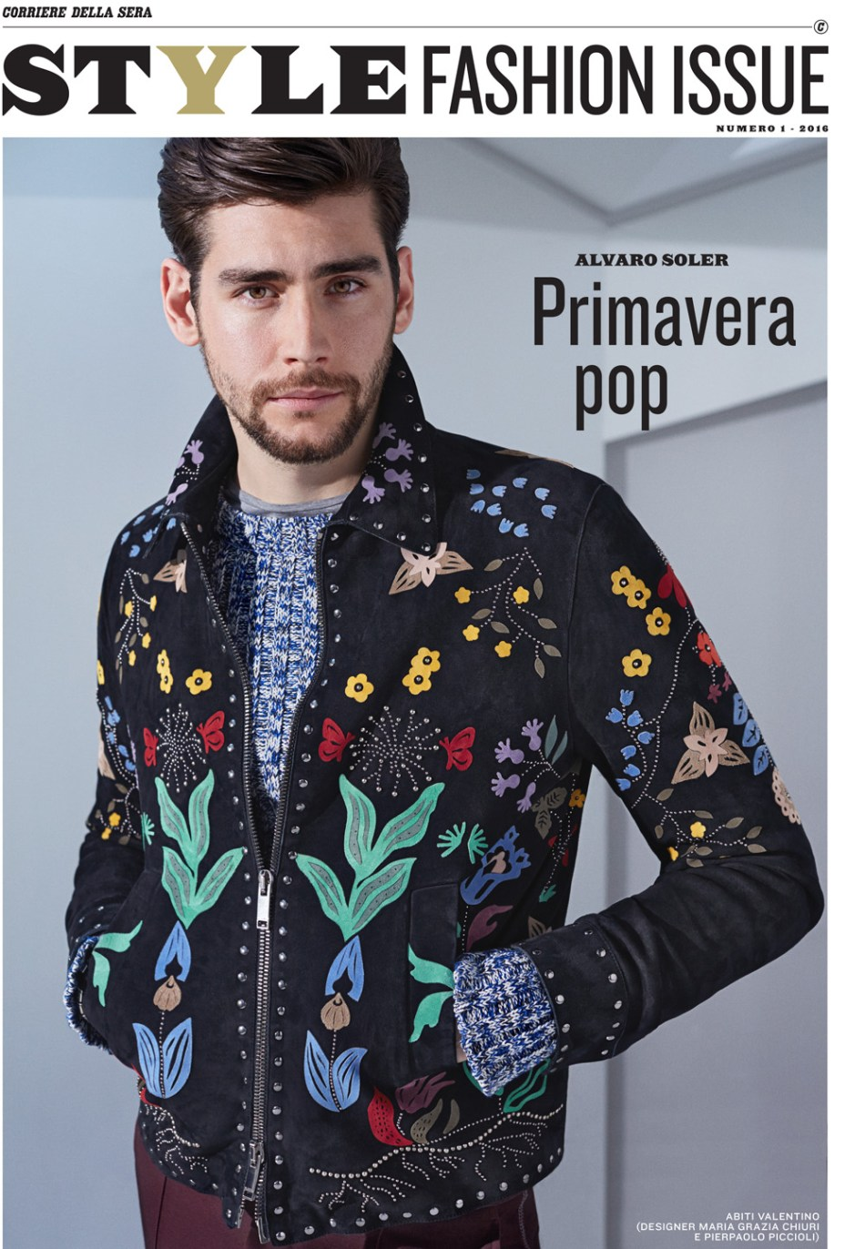 Corriere della Sera – Style Fashion Issue published with Alvaro Soler in Grazia Chiuri and Pier Paolo Piccioli.