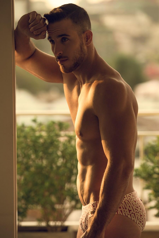 Ravishing Israeli fitness model/actor Eyal Berkover stops by the studio of photographer Angel Ruiz for an eye-catching portrait session.