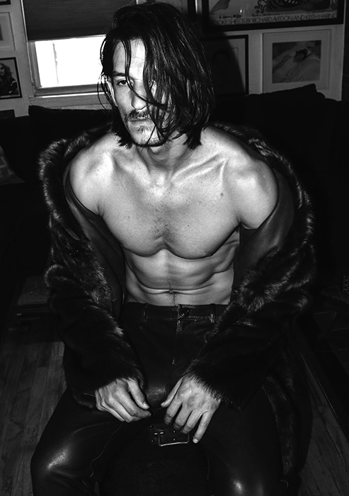 """Exclusive fashion featured for Client Magazine x Yearbook Fanzine presenting """"Sleepless Nights with Jarrod Scott photographed by Joseph Lally, styling by Fashion Editor Matthew Ellenberger. Hair by Valentino Longo."""