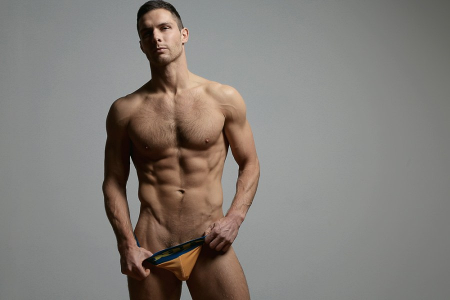 Recently, you probably caught our exclusive PnV/Fashionably Male interview with Michigan-native Justin Leonard.  Justin is Chicago-based and is with Ford Models in Chicago and Matthew Agency in Grand Rapids, MI.  The long-time collegiate wrestler brings his sexy physique to this new shoot by Jerrad Matthew for Underwear Expert. Justin is wearing underwear and jocks from various designers like Jack Adams, Kiniki, Aware, Diesel and more.
