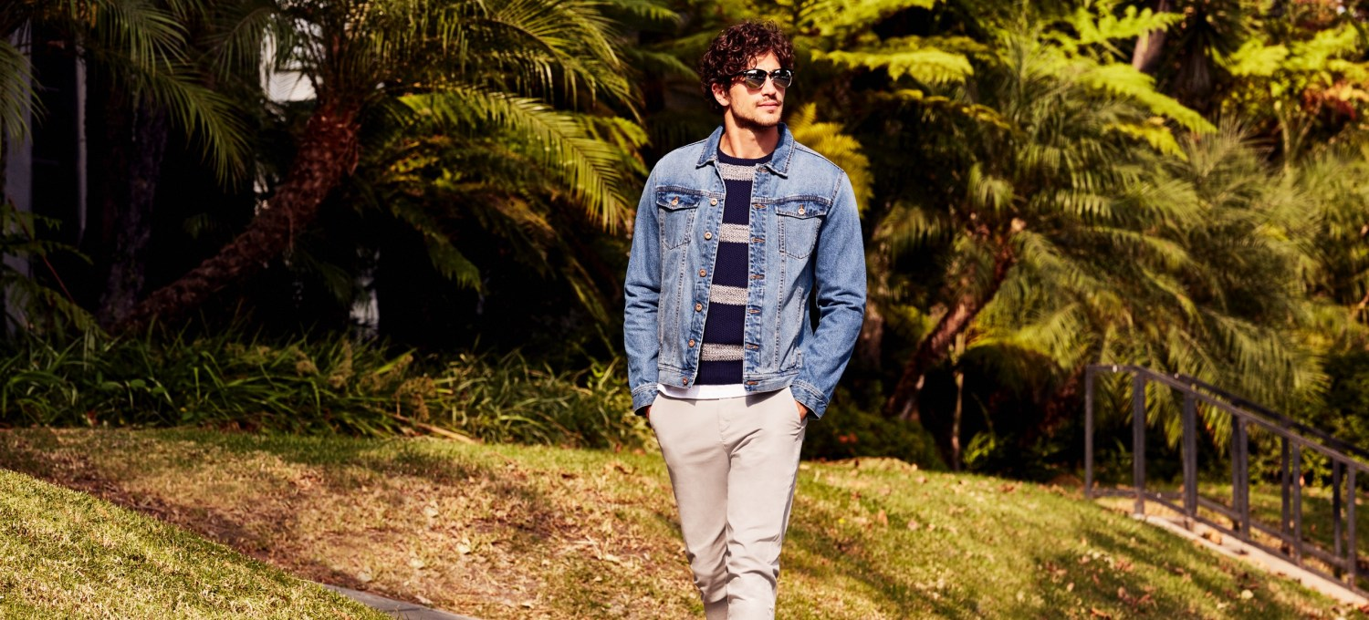 """Casual, natural and easy-going style is key for the men's new spring collection. Classic cuts combined with more """"adventurous"""" garments in neutral tones, with an emphasis on blue and the """"Denim"""" universe The result is a timeless and easy-to-wear collection."""