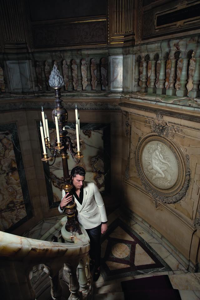 """Model Aurélien Muller pays hommage à """"Viscontien"""" in the new fashion editorial for Les Echos Magazine Série Limitée photographed by Milan Vukmirovik. Aurélien is with New Models Paris"""