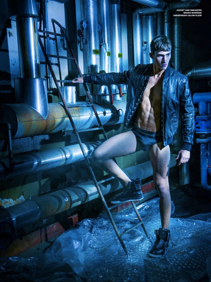 Top model Alessio Pozzi breaking every boundary now this time with Issue #20 of ADON Magazine full fashion story captured by photographer Manuel Scrima.