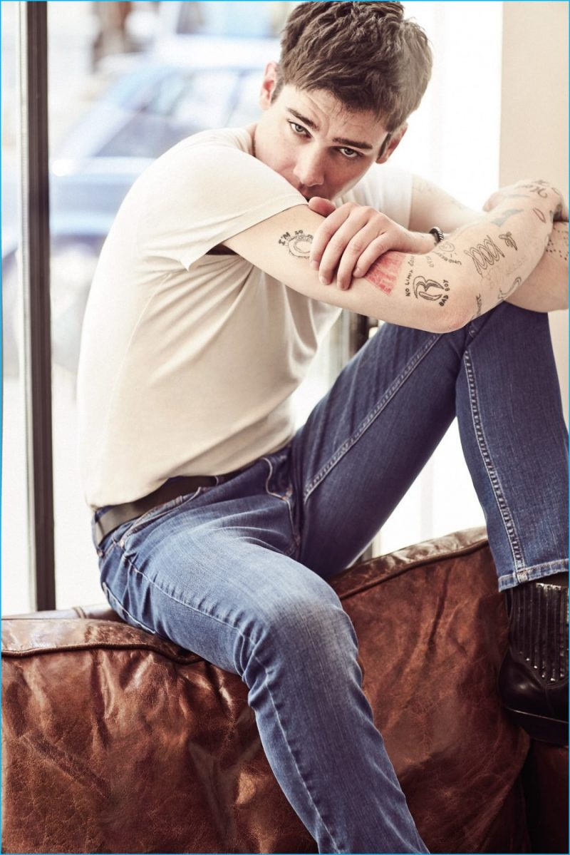 31becbc9e2fd5 Model Cole Mohr by Emre Dogru for Koton Jeans' Spring Summer 2016 Campaign.  Styled