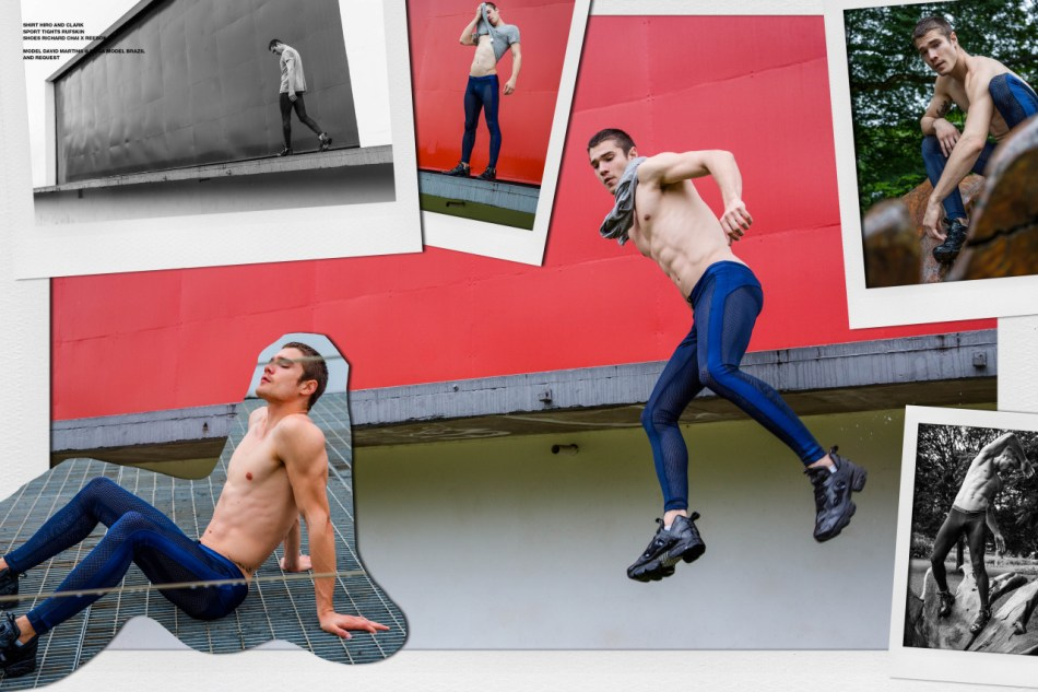 Model David Martins sports the new issue of ADON Magazine shot by Ted Sun.