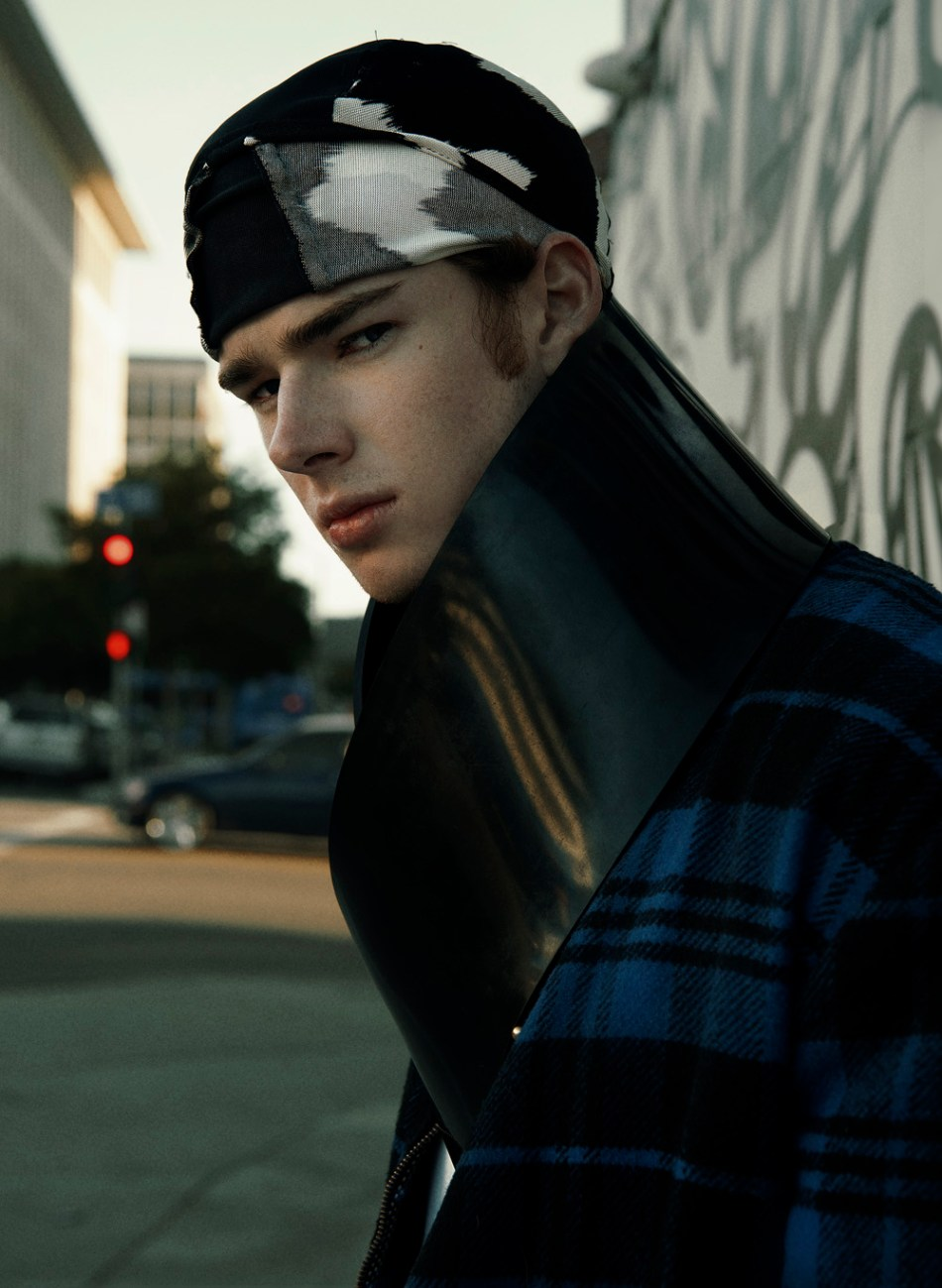 """King of Gangs"" fashion editorial captured by talented Jvdas Berra starring by Model Sean Grace from TWO Model Management, fashion styling by Adolfo Sánchez and grooming by Chanel Bohn."