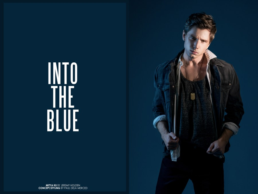 "New collaborative photoshoot with Russian model Mitya Ku shot by Jeremy Holden teamed up with stylist Paul dela Merced dubbed ""Into The Blue"". Apparel consisted of a variety of brands ranging from ZARA, Calvin Klein, Prada & Saint Laurent."