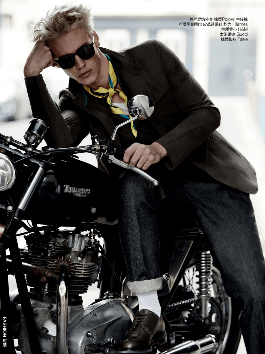 """""""Rebel Neckwear""""a work by Photographer Alvaro Beamud Cortes co-work with Stylist Jacky Tam, featuring model Oliver Stummvoll for GQ China May 2016."""