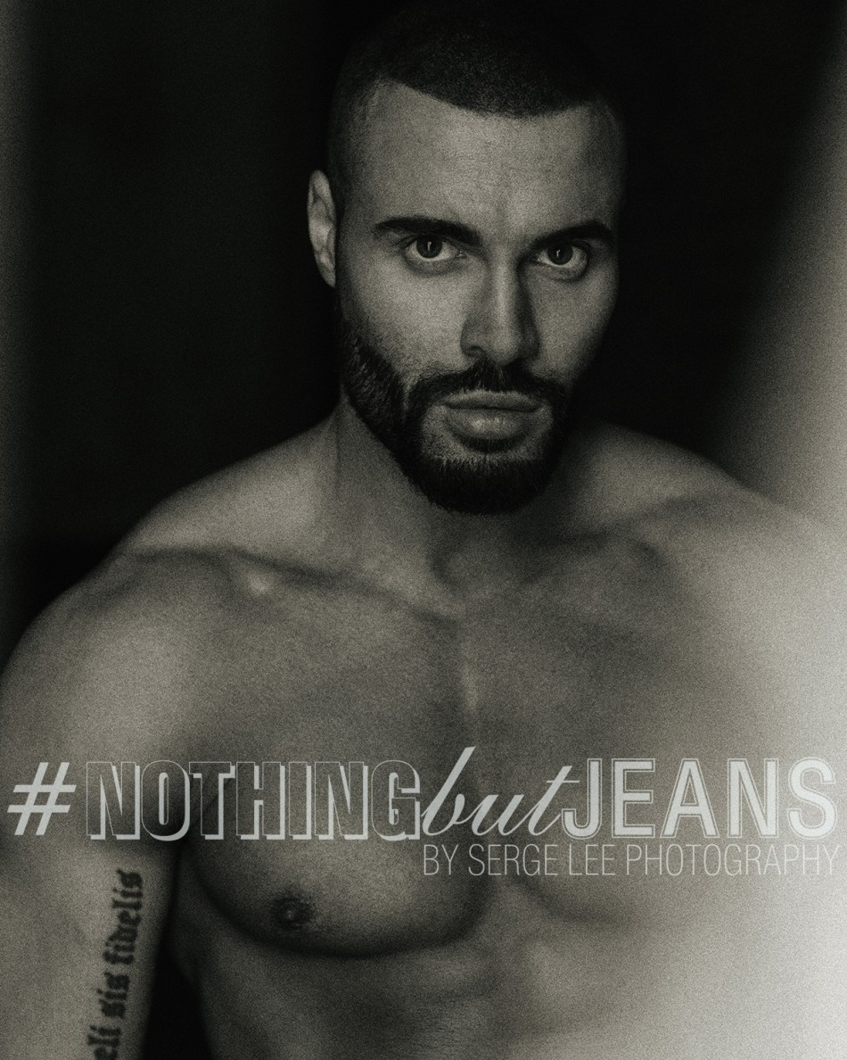 I know you are such a huge fan of series #NothingButJeans by photographer Serge Lee, yes, we are obsessed by it, well there you go guys, he's Anton Aleksander I bet you all know who is he, stunning in jeans.