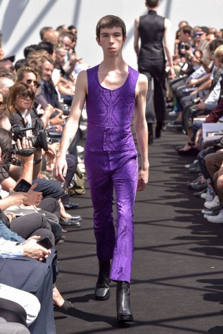 Model on the catwalk