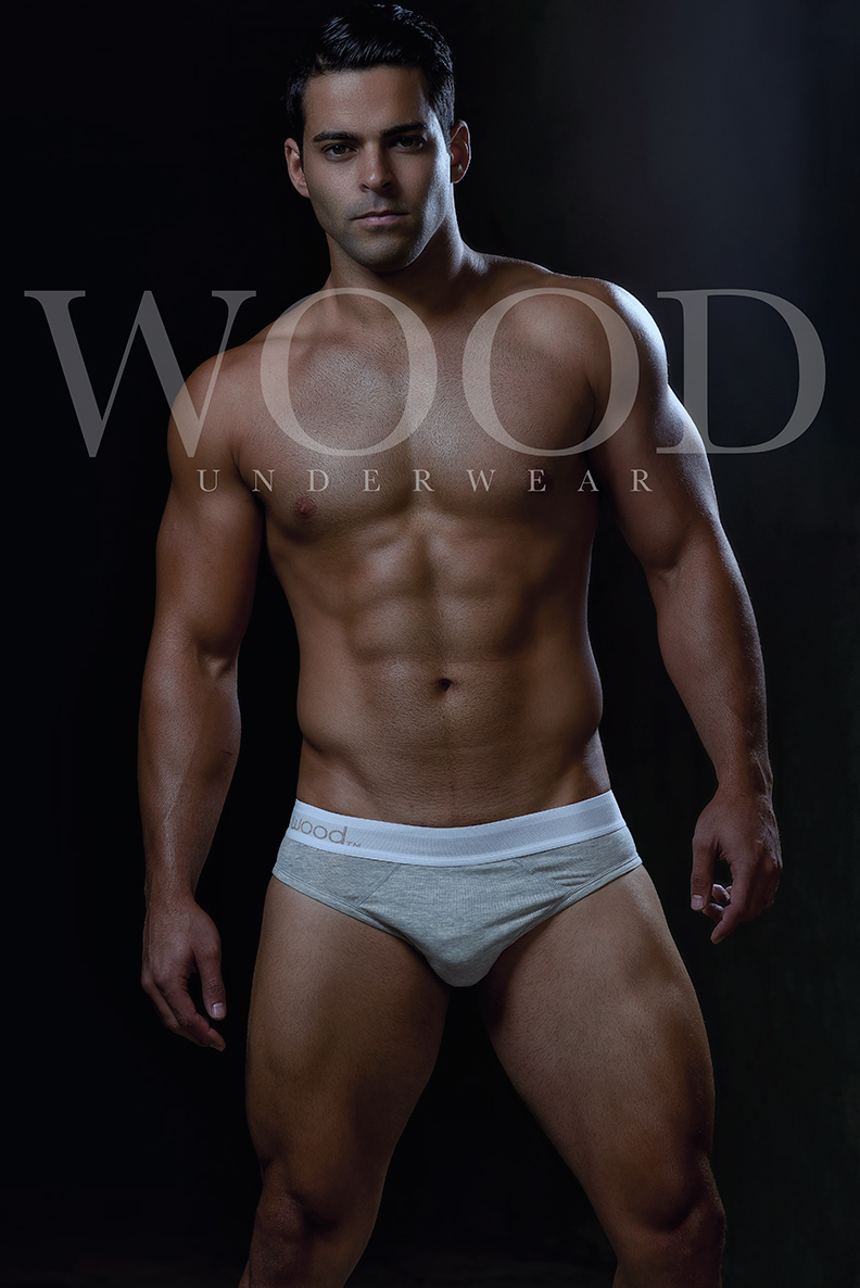 #MondayMotivation with fitness model Bijan Kashani shot by Armando Adajar the model is wearing some pieces from WOOD Underwear.