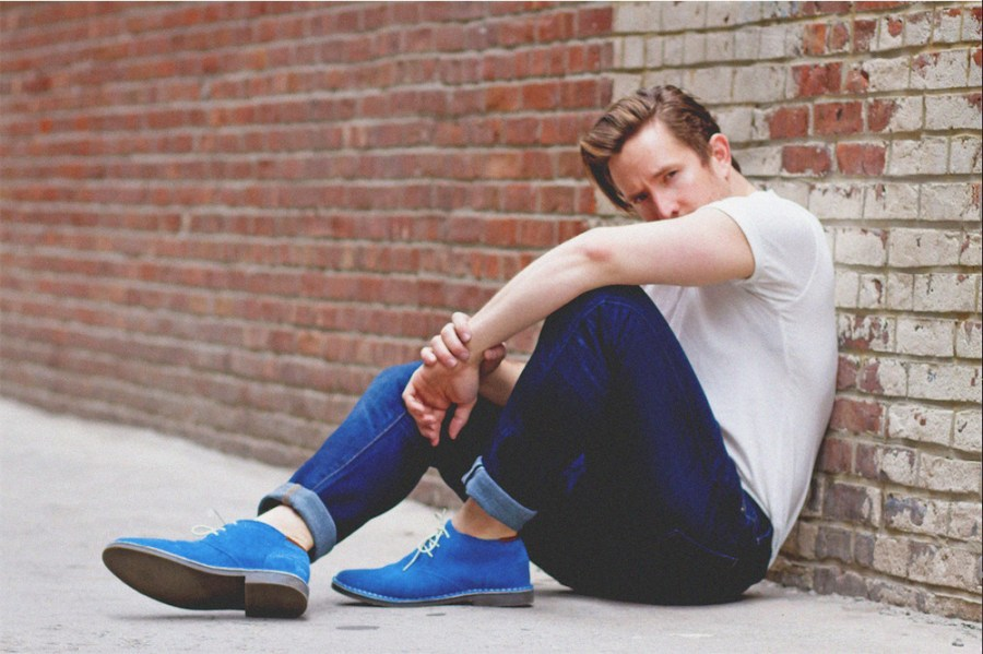 Male model Cameron McCartney from Bella Agency NYC is photographed by commercial fashion photographer Natasha Williams classically handsome Cameron in blue is wearing UNIQLO USA, Kenneth Cole and Ruby Francis.