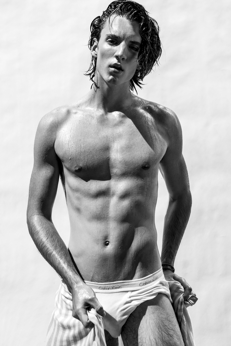 Testing shoot with new model Sean Barnes from Wilhelmina (Canada), grooming by Trevor Sarginson, photography and styling by Jamie Mann.