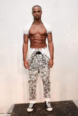Mandatory Credit: Photo by Aurora Rose/REX/Shutterstock (5754854bt) Model on the Catwalk Artistix with Andy Hilfiger Presentation, Spring Summer 2017, New York Fashion Week: Men's, USA - 11 Jul 2016