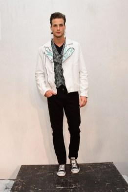 Mandatory Credit: Photo by Aurora Rose/REX/Shutterstock (5754854be) Model on the Catwalk Artistix with Andy Hilfiger Presentation, Spring Summer 2017, New York Fashion Week: Men's, USA - 11 Jul 2016