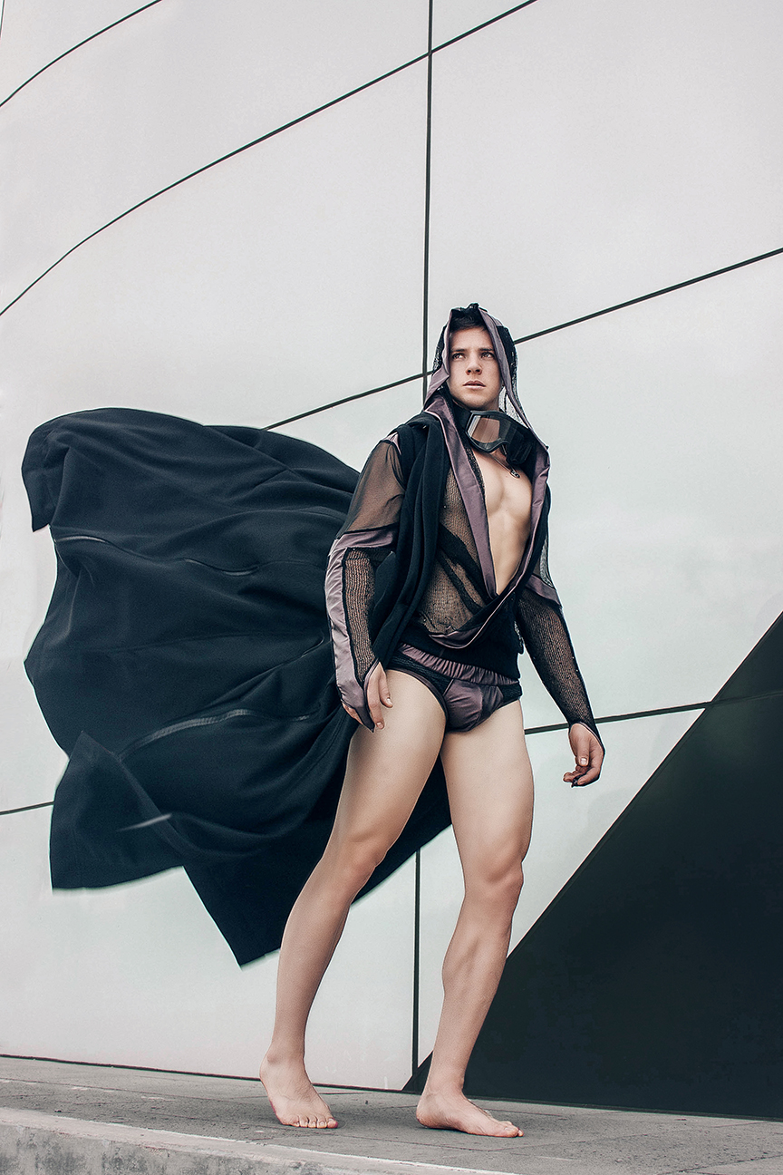 "Inspired by Post-Apocalyptic films, where society lives an anti utopia of injustice, disease and survival of who's the strongest. From fashion designer Gus de la Cruz titled his collection ""Dystopia"" featuring photography by Chris Femat."