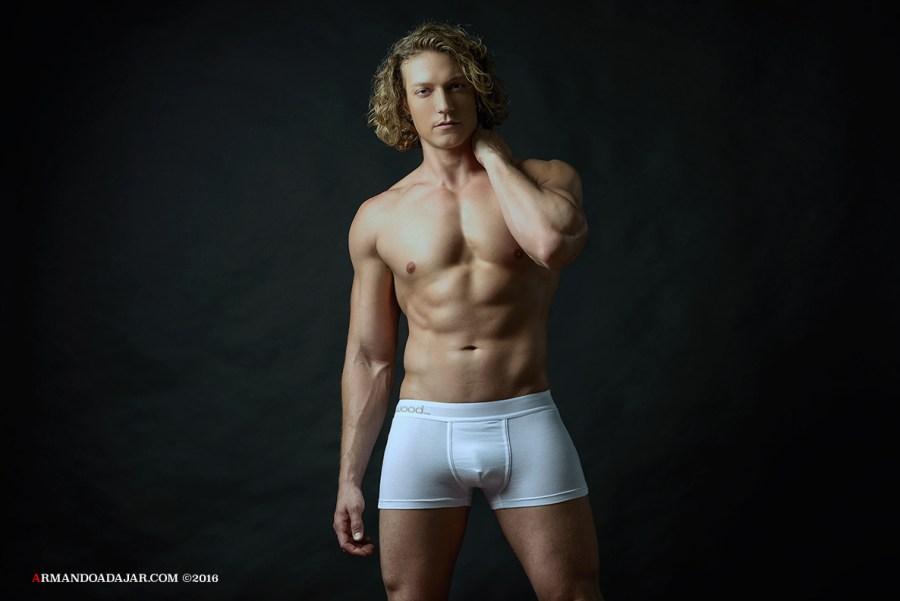 Tighty whites with Jeci Would by Armando Adajar What nerds like me wear, boxer-wearers usually bully anyone caught wearing tighty whities a wedgie. Photography by Armando Adajar featuring model Jeci Would for Wood Underwear.