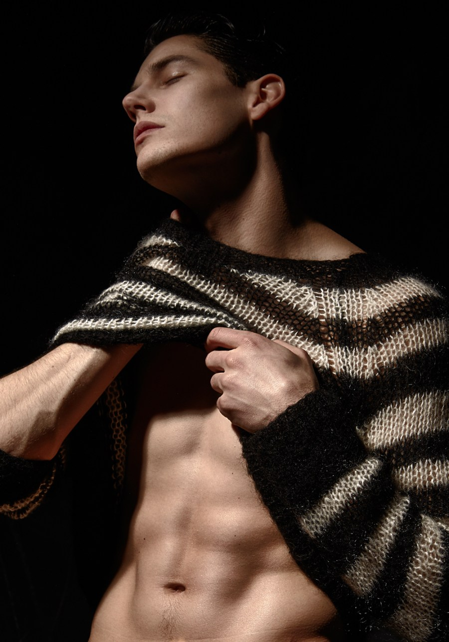 7 reasons to pursue Jesse Dunval in these shots by Lawrence Cortez just look the fact that lights and a nice wardrobe (pieces including Rick Owens, Ann Demeulemeester, Calvin Klein and harness from Charlie by MZ.) a good direction and you have a splendid portrait work. Featuring muse Jesse Dunval from Elite Models in Toronto and recently signed with RED NYC.