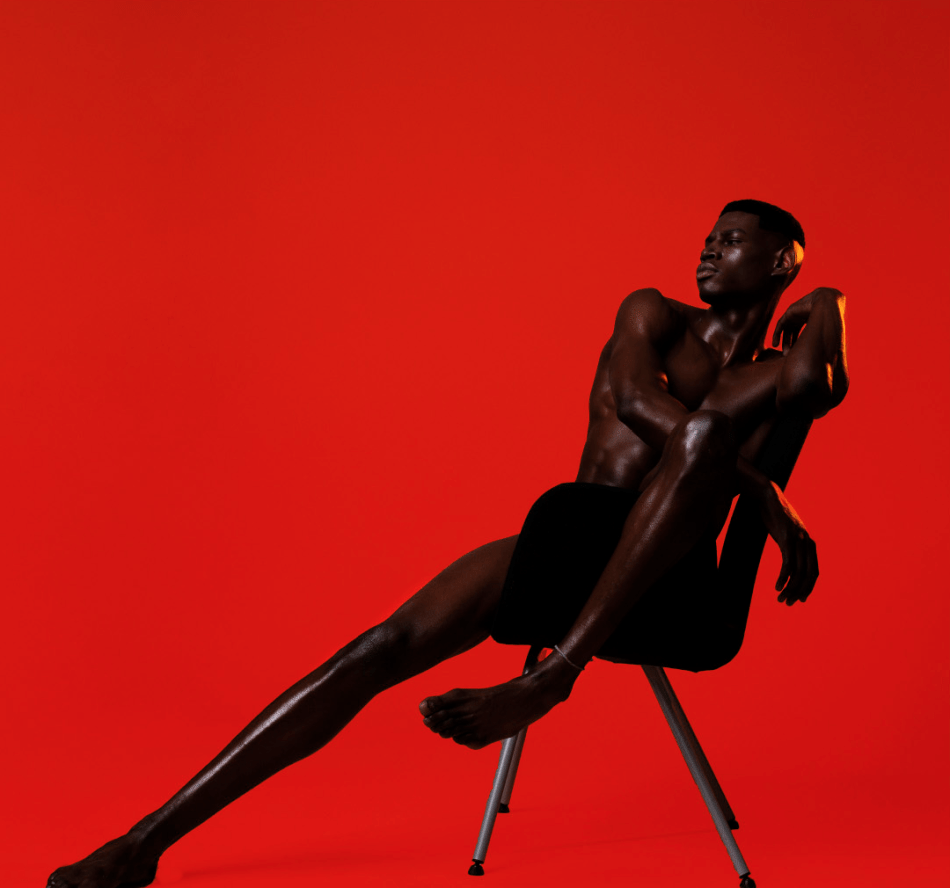 Male model Tchaasu Taylor giving iconic poses captured by J.R. West for Obvious Magazine Summer 2016.