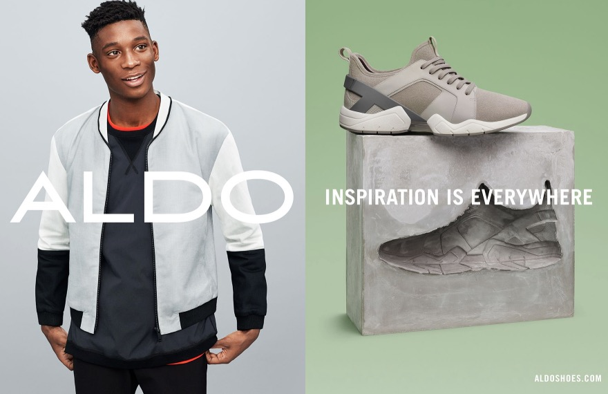 """ALDO Shoes exposed a new colorful ads campaign its Spring/Summer 2016 titled """"Inspiration is Everywhere"""", photographed by Matteo Montanari, Darcy Backlar as Fashion Editor/Stylist. Madeleine Kiersztan as Executive Producer and Sandra Winther as Director."""
