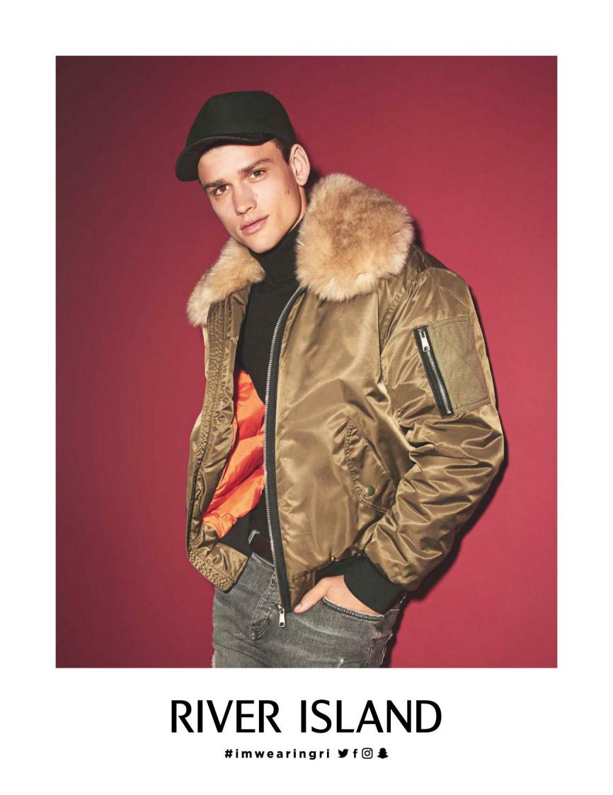 Top model Simon Nessman fronts River Island Spring/Summer 2015 Campaign