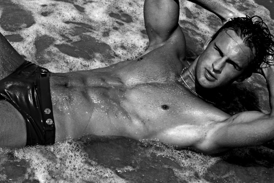 The best list ever created: 38 sexy pics of hot model Alexander Taptsov shot outdoors by Thomas Synnamon.