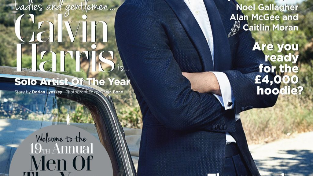UK GQ October 2016 Issue presents 19th Annual Men of the Year Awards, and presents Calvin Harris like 'Solo Artist of the Year' a story by Dorian Lynskey and shooting by Gavin Bond.