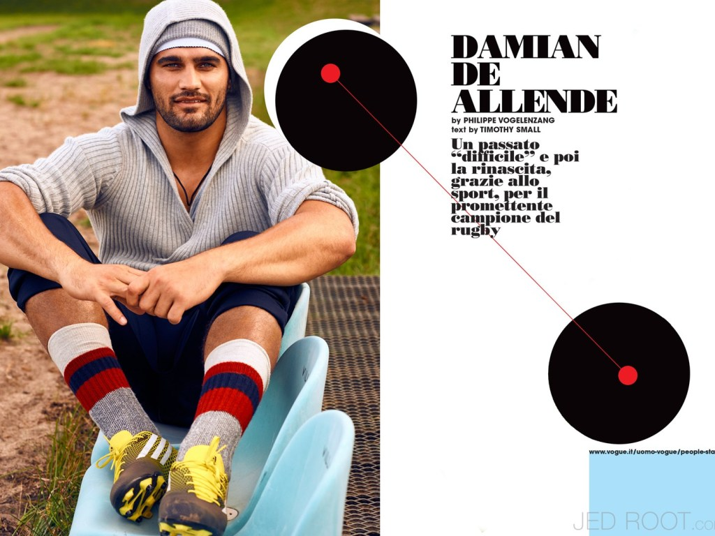 Damian de Allende is a South African rugby union player of mixed-race descent, currently playing with the Stormers and Japanese Top League side Kintetsu Liners. Motivational fashionable story we found it on Jedroot.com shot by Mastermind Philippe Vogelenzang.