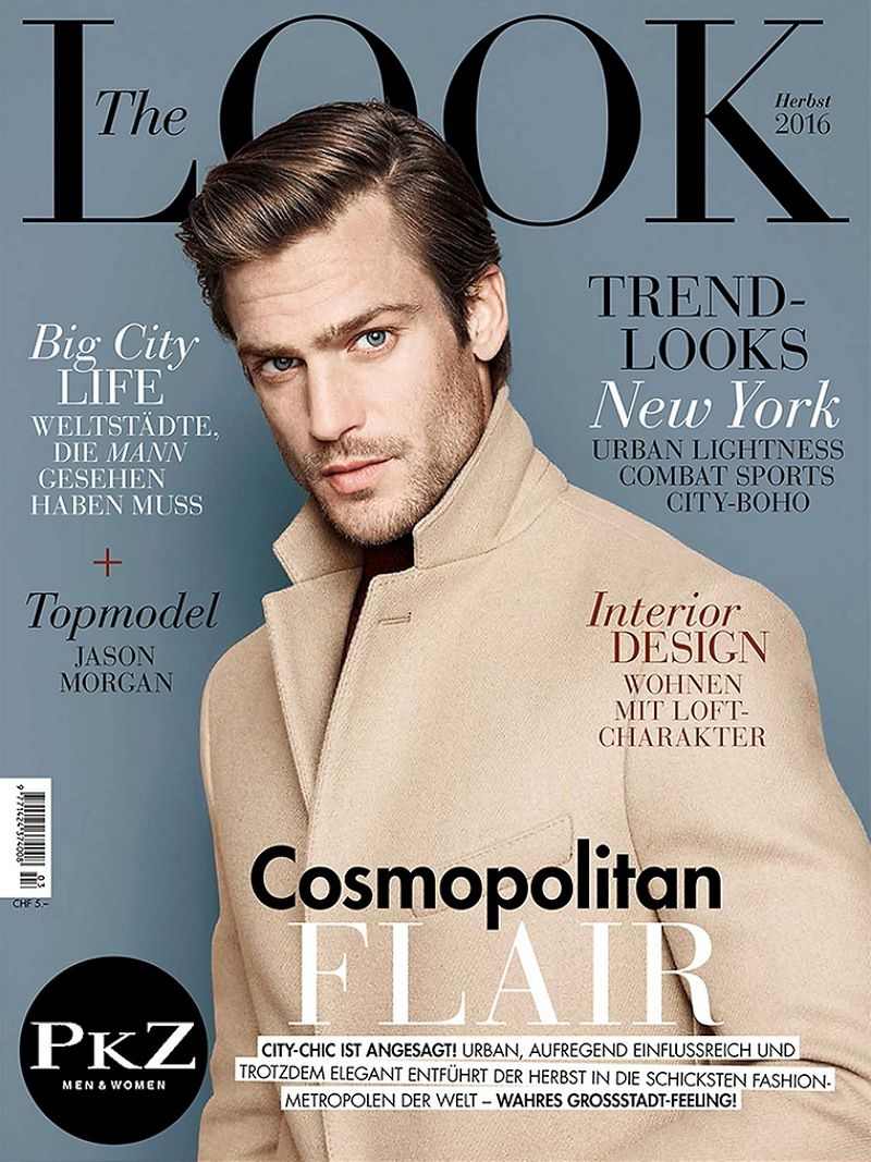 """American model Jason Morgan covers the Fall issue of """"The Look"""" Magazine and stars in its cover story shot by fashion photographer Marcel Gonzaelz-Ortizwith with British model Tom Warren. The two models wear a selection of pieces from the latest collections of notable labels put together by stylist Kathrin Zobel."""