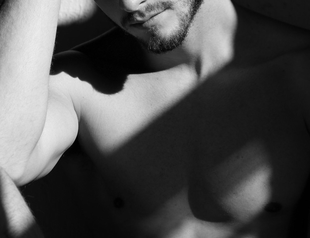 This won't hurt anybody, come a little closer to meet once again model Martin Kiriluk in this unique portrait by photographer Afif Kattan.