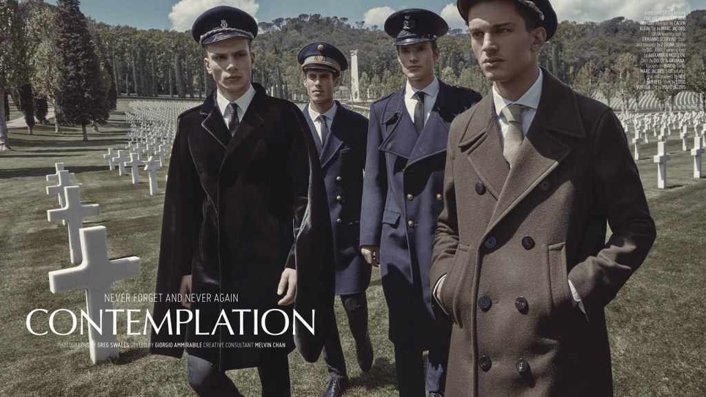 Never forget and never again -Contemplation: a new story available for August Man Malaysia September 2016, stars Tomas Skoloudik, Cristi Isofii, Jorrit Berndsen, Liuk Bass and Oran Katan.
