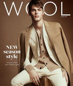 Gucci two-piece wool suit; Joseph wool cardigan and overcoat.