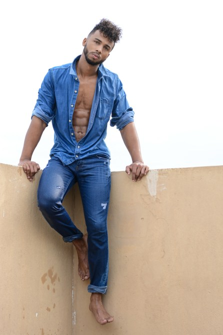 Since when wearing denim is sexy for guys like Ant Barnes - pics by Calvin Brockington