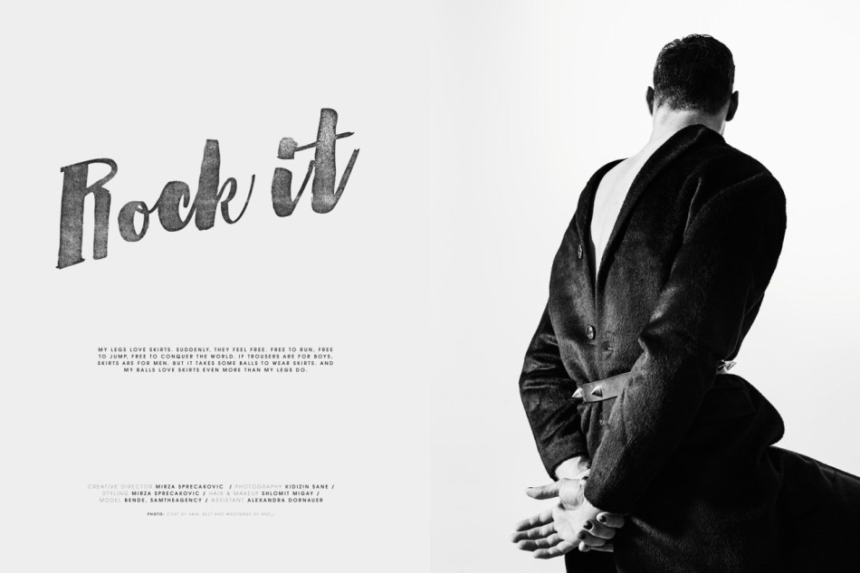"Presenting for the very first time, Austrian model Bende from SAM The Agency, ""Rock it"" photography by Kidizin Sane editorial for Vangardist Print Issue #6"
