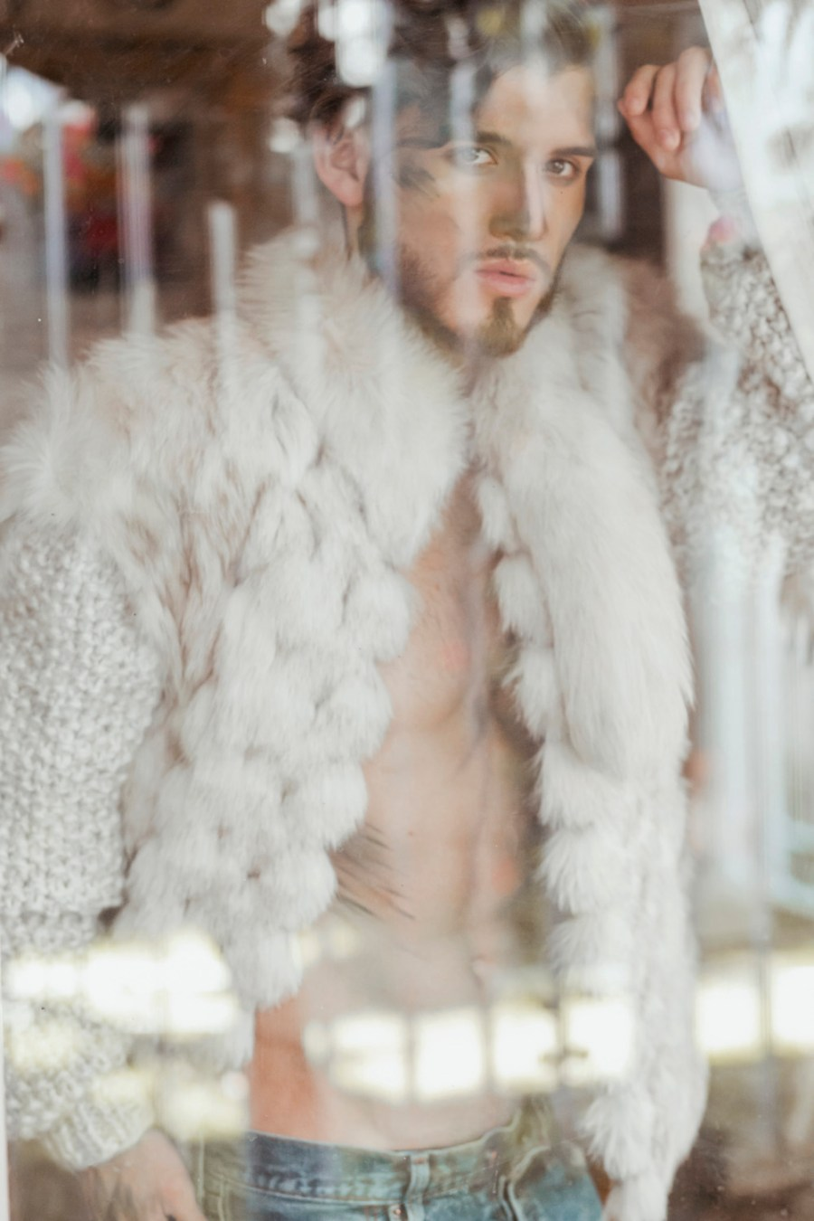 """Looking right through lens of Luis Linares featuring Luis Garcia, titled work name is """"Breathe"""" and we can see a fascinating male body and beautiful face styled by E. Salim joining the crew MUA and Hairstylist Angel Corona."""
