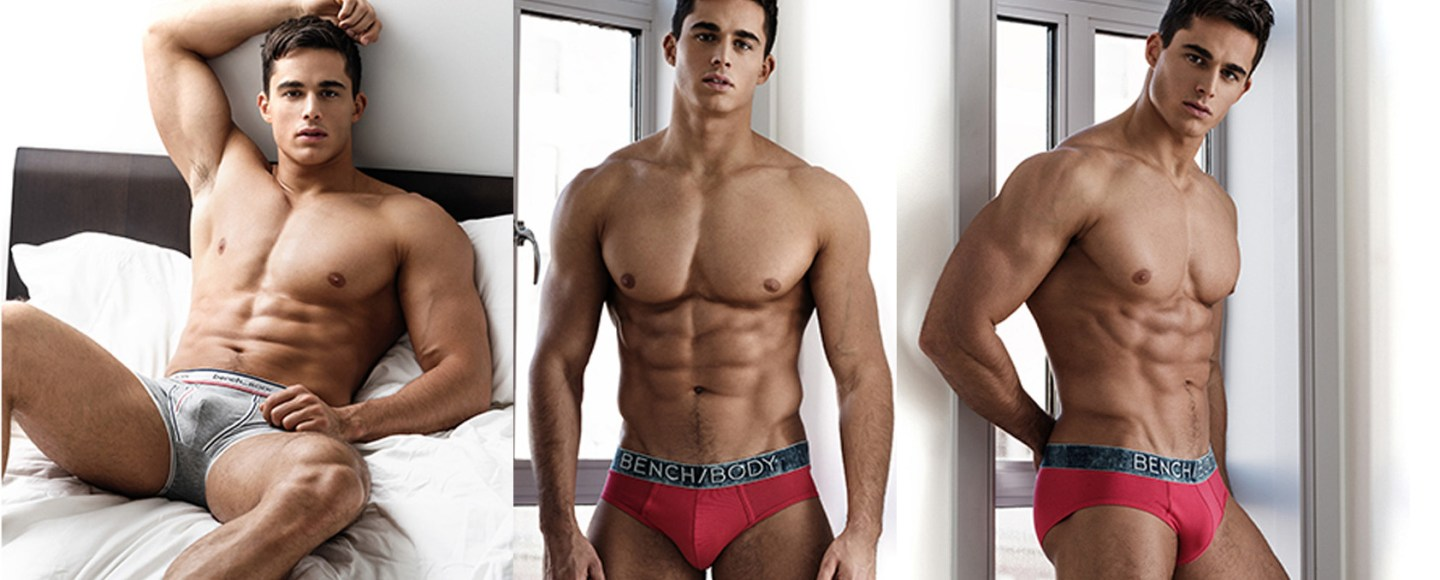 Pietro Boselli Burning Up In New Bench Body Underwear Ad Shots