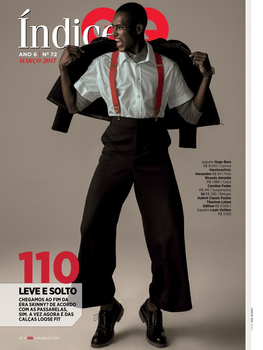 """Get up is time to """"Loose Yourself to Dance"""" with model Lucas Gonzaga can be seen in the new issue of GQ Brazil March 2017 photographed by Zee Nunes and styling by Thiago Ferraz."""