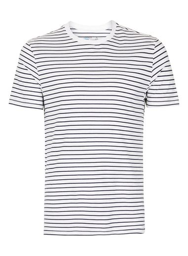 Mens Navy and White Stripe T-Shirt
