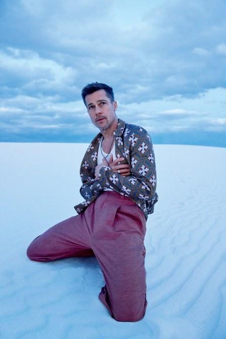 White Sands | Sports jacket, $3,395, by Giorgio Armani / Tank top, $240, by Rick Owens / Pants, $790, by Bottega Veneta / Necklace by David Yurman / Ring by Miansai