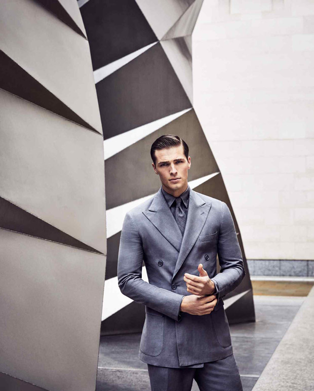 International Top model Edward Wilding in The Financial Times 'How to Spend it' Magazine   Spring 2017. Photos by Diego Merino. Styling by David Lamb. Grooming by Lee Machin.
