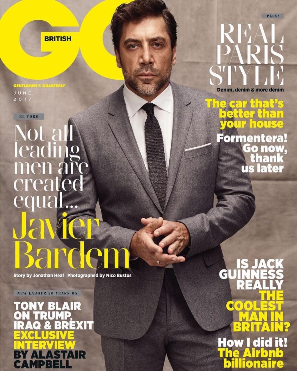 Javier Bardem UK GQ June 2017 Cover
